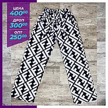 Жіночі літні брюки, капрі чорний/білий