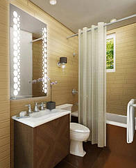 "Зеркало для ванной комнаты с LED подсветкой 600*800h 10Вт с рисунком ""PARIS"" D14 +кнопка"