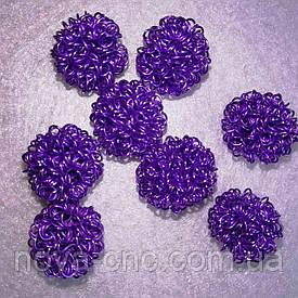 Декор металл  17 мм Упаковка 10 шт Цвет фиолетовый