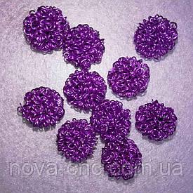 Декор металл  17 мм Упаковка 10 шт Цвет лиловый