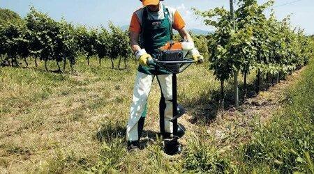 мотобур для виноградника