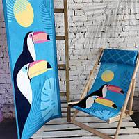 Пляжное полотенце с принтом Туканы 150х70 см (PLB_21J048)