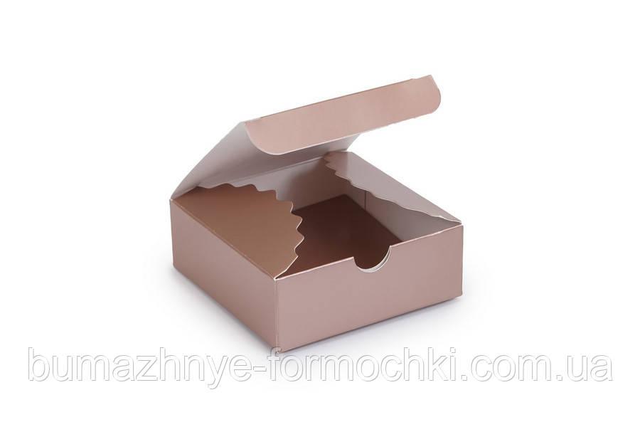 Мини-бокс цвета металлик, 83*83*30 (10 штук)