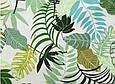 Сатин (хлопковая ткань) листья папоротника на белом, фото 2
