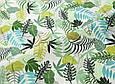 Сатин (хлопковая ткань) листья папоротника на белом, фото 3
