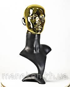"""Манекен-бюст TREMVERY """"Бюст с подставкой"""" ВГ черный (201) PN3 МГ (Золото)"""