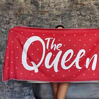 Пляжное полотенце с принтом the Queen 150х70 см (PLB_21J039)