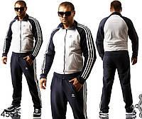 Белый мужской спортивный костюм Адидас