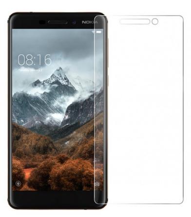 Гидрогелевая защитная пленка на Nokia 6 2018 на весь экран прозрачная