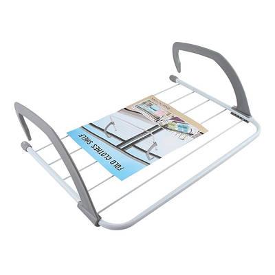 Сушилка для одежды на батарею 5534 см съемная Fold Clothes Shelf голубая 183124