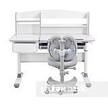 Комплект для школярів парта Cubby Rimu Grey + ергономічне крісло FunDesk Solerte Grey, фото 3