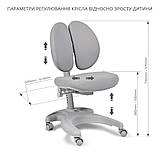 Комплект для школярів парта Cubby Rimu Grey + ергономічне крісло FunDesk Solerte Grey, фото 8