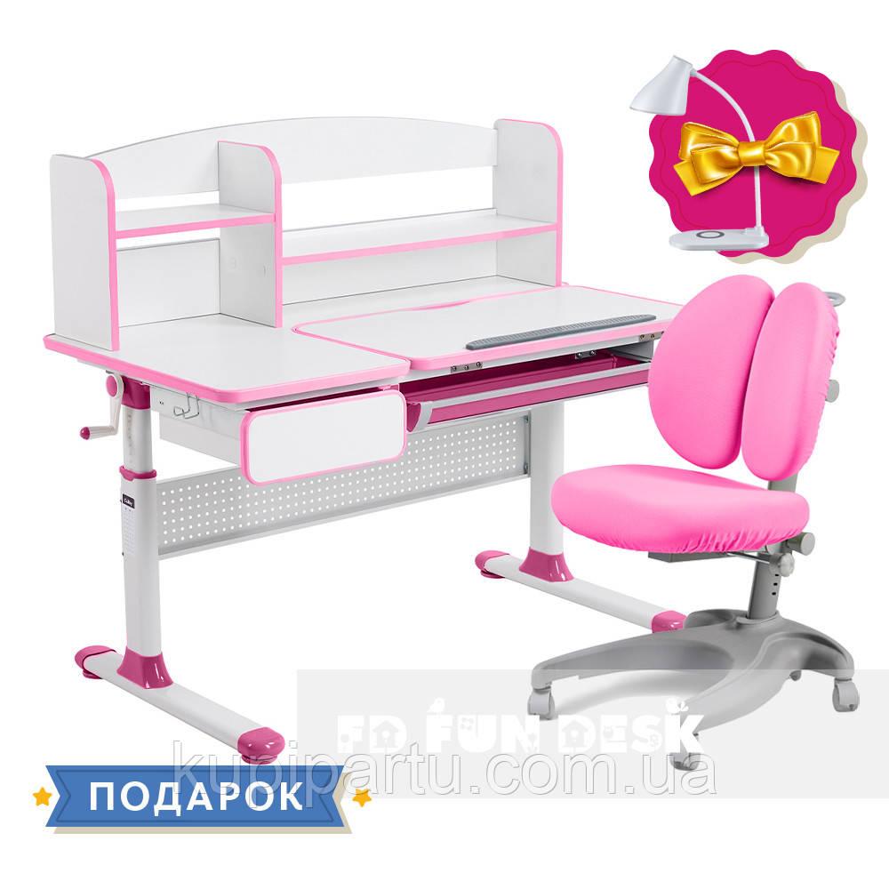 Комплект для принцеси 👸 парта Cubby Rimu Pink + ергономічне крісло FunDesk Solerte Pink