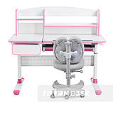 Комплект для принцеси 👸 парта Cubby Rimu Pink + ергономічне крісло FunDesk Solerte Grey, фото 2