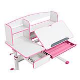 Комплект для принцеси 👸 парта Cubby Rimu Pink + ергономічне крісло FunDesk Solerte Grey, фото 5
