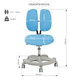 Комплект для школяра зростаюча парта Cubby Fressia Grey + підліткове крісло для дому FunDesk Primo Blue, фото 5