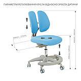 Комплект для школяра зростаюча парта Cubby Fressia Grey + підліткове крісло для дому FunDesk Primo Blue, фото 6