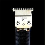 Профессиональная машинка для стрижки волос Триммер Окантовочная Машинка Kemei Km-1971 на аккумуляторе, фото 5