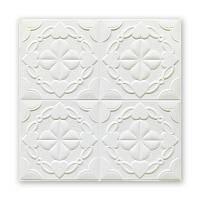 Потолочная 3д панель Ажурные Ромбы 10 шт 3d панели потолочная плита на потолок узоры 700x700x9 мм, фото 1