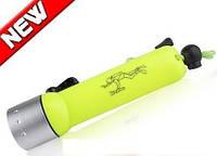 Купить светодиодный LED фонарь для дайвинга Police BL-FQ-02 Gree 3W LED, фото 1