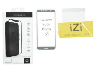 Захисне скло IZI Premium для SAMSUNG A750 Galaxy A7 (2018) (Full Glue 5D) Black, фото 2