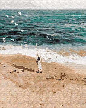 Картина по номерам 40х50 см Brushme Фигура на побережье (GX 37562)