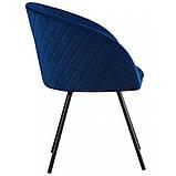 Кресло SACRAMENTO поворотное велюр тёмно - синий, фото 3