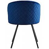 Кресло SACRAMENTO поворотное велюр тёмно - синий, фото 4