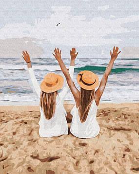 Картина по номерам 40х50 см Brushme Подружки на море (GX 37561)