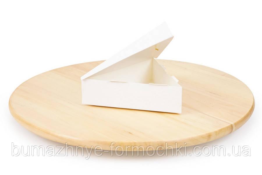 """Коробка для цукерок 6 """"Трикутник"""", біла"""