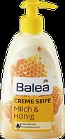 Жидкое крем-мыло для рук с дозатором Balea Creme Seife-- Молоко и мед
