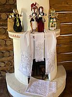 Свадебный рушник набір весільних рушників біла гладь