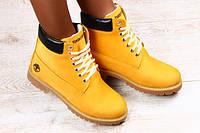 Зимние женские ботинки  Timberland нубук с мехом