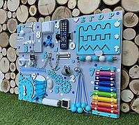 Развивающая доска Бизиборд размер 50*65  busyboard bizibord бізіборд С пультом и ксилофоном, фото 1