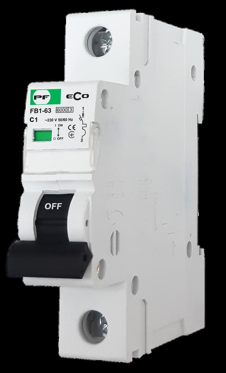 """Модульний автоматичний вимикач FB1-63 ECO 6kА    """"C""""  1P  1А"""