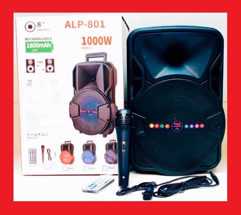 """ALP-801 8"""" Беспроводная портативная bluetooth колонка - чемодан с караоке"""