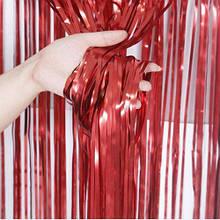 Фольгована шторка червоний пастель 1,2*3метри