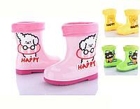 Яскраві гумові чобітки для дівчинки (р23-27), фото 1