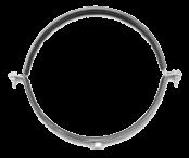 Хомут 100мм (107-112мм) без виброгасителя (резинового вкладыша) с гайкой М8