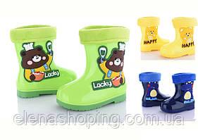 Яркие  резиновые сапожки для мальчика  ВВТ (р25-29)