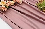 Лоскут сатина премиум, цвет тёмная пыльная роза №1535, расмер 27*110 см, фото 3