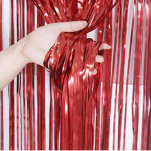 Фольгована шторка червоний пастель 1,2*2метри