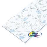 Пластиковые декоративные панели ПВХ Рико(Riko) 250*7*3000мм Азалия голубая с Термопереводом бесшовные, фото 3