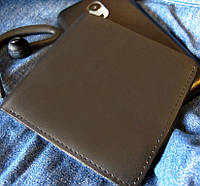 Портмоне гаманець №10 Квадрат з натуральної шкіри, фото 1