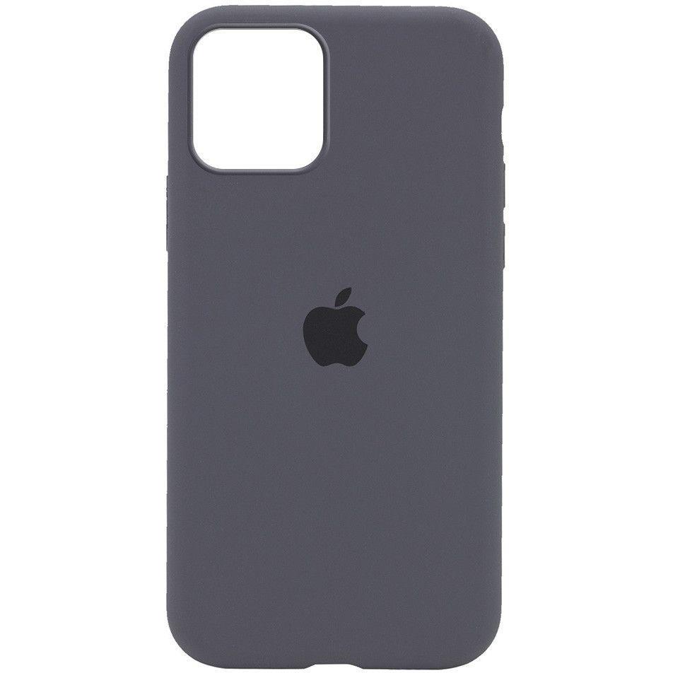 Чехол 1TOUCH Silicone Case Full Protective (AA) Apple iPhone 12, iPhone 12 Pro Dark Grey