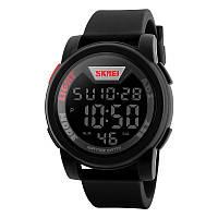 Skmei 1218 чорні чоловічі спортивні годинник, фото 1