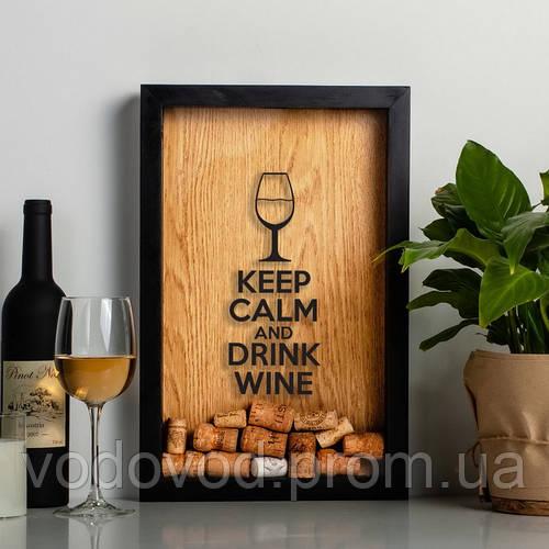 """Картинка товара Рамка для винных пробок """"Keep calm"""""""