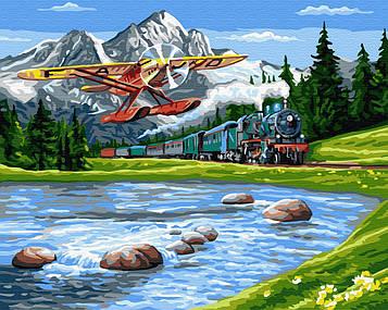 Картина по номерам 40х50 см Brushme Путешествие в горы (GX 33234)