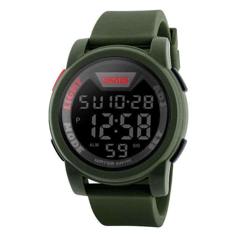 Skmei 1218 зелені чоловічі спортивні годинник