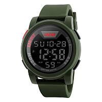 Skmei 1218 зелені чоловічі спортивні годинник, фото 1